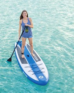 """iRocker Inflatable Stand Up Paddle Board 10'6"""" Long 33"""" Wide 6"""" Thick Package"""