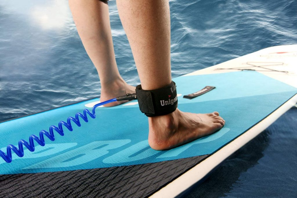 Unigear Premium SUP Leash 10' Coiled Stand Up Paddle Board Surfboard Leash