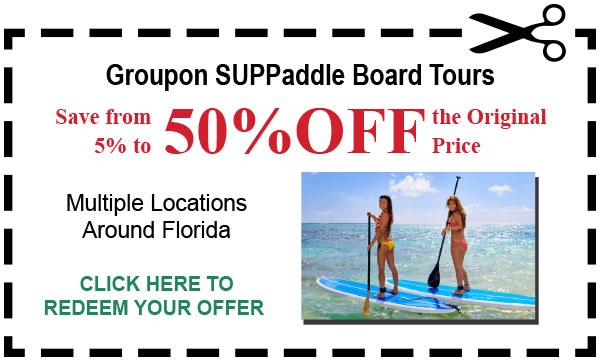 Groupon SUP Paddle Board Tours In Florida