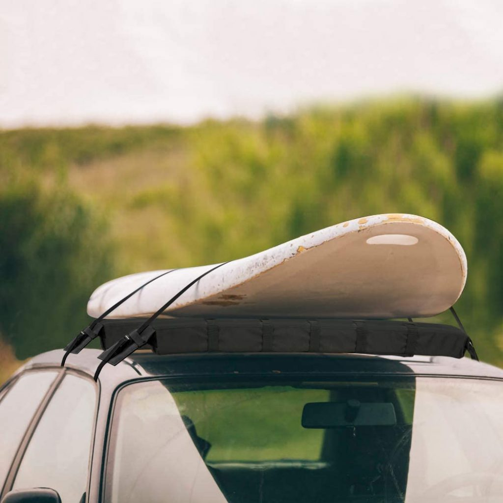 WOOWAVE Roof Rack Pads Universal Car Surfboard SUP Paddle board