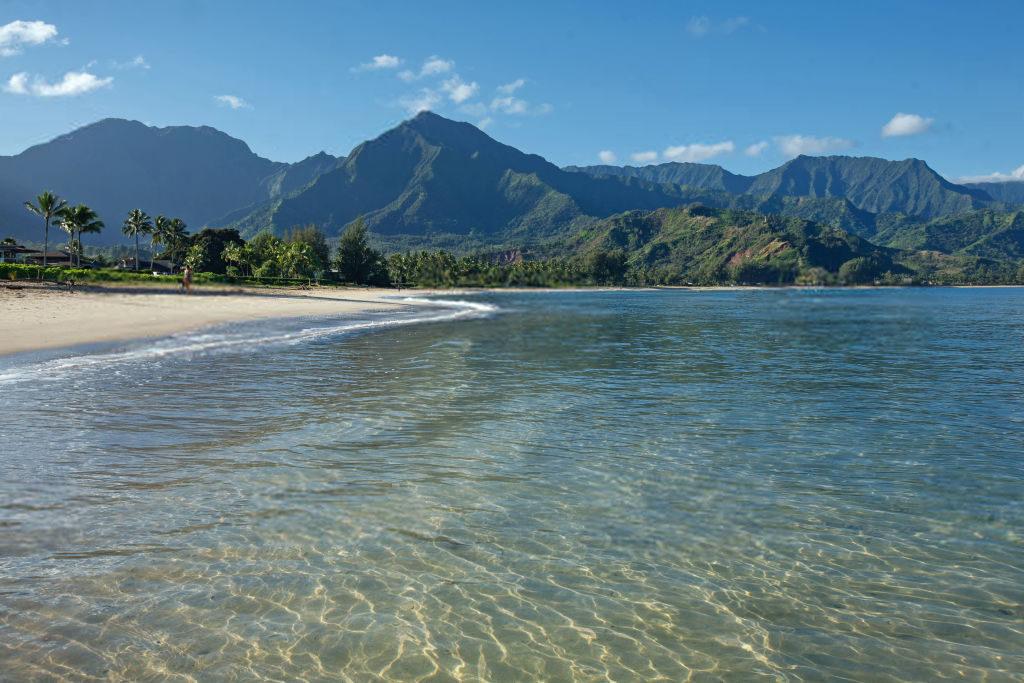 The beach at Hanalei Bay, Kauai