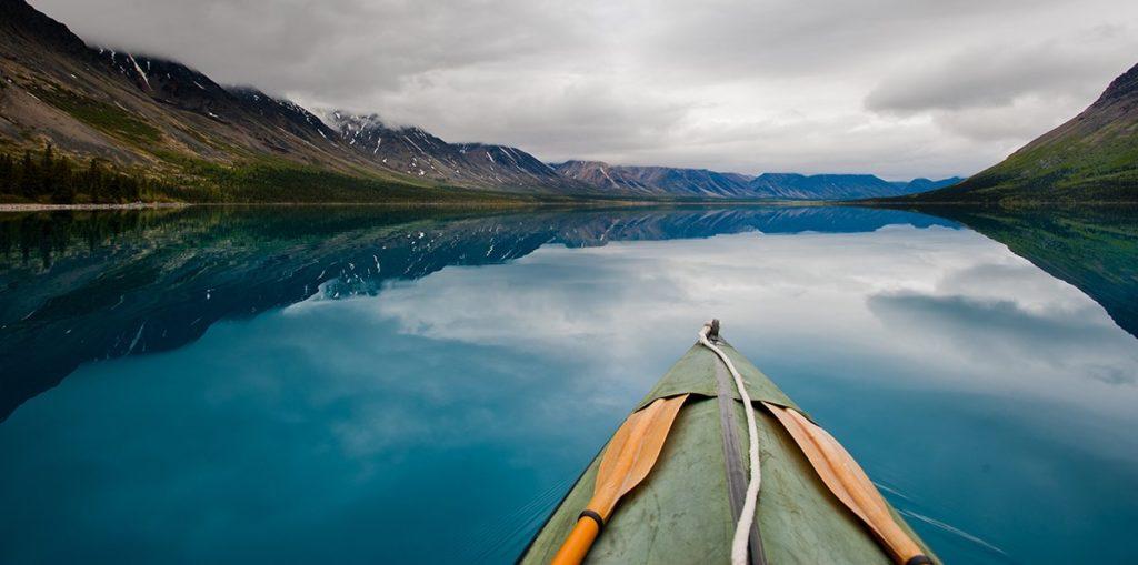 Standup Paddle Boarding in Lake Clark Alaska