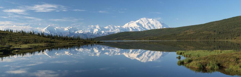 Paddle Boarding in Wonder Lake Alaska