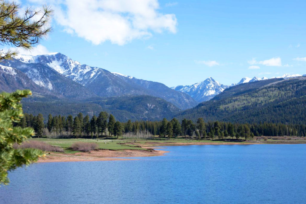 Best Place to SUP in Vallecito Lake Colorado