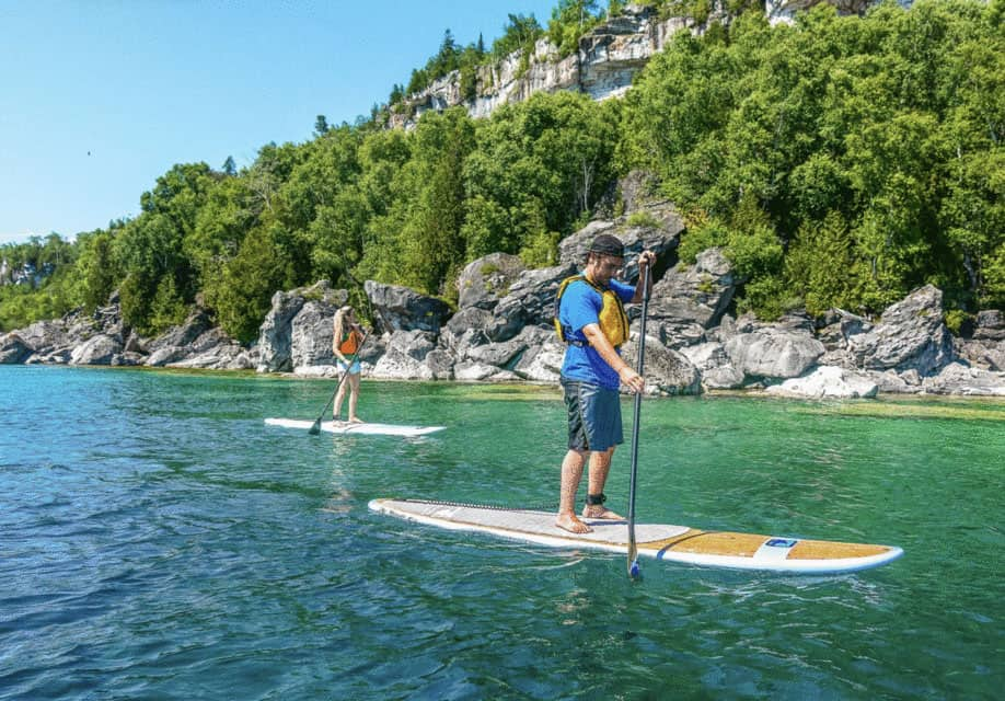 SUP Stand up Paddle boarding in Bruce Peninsula National Park – Ontario Canada