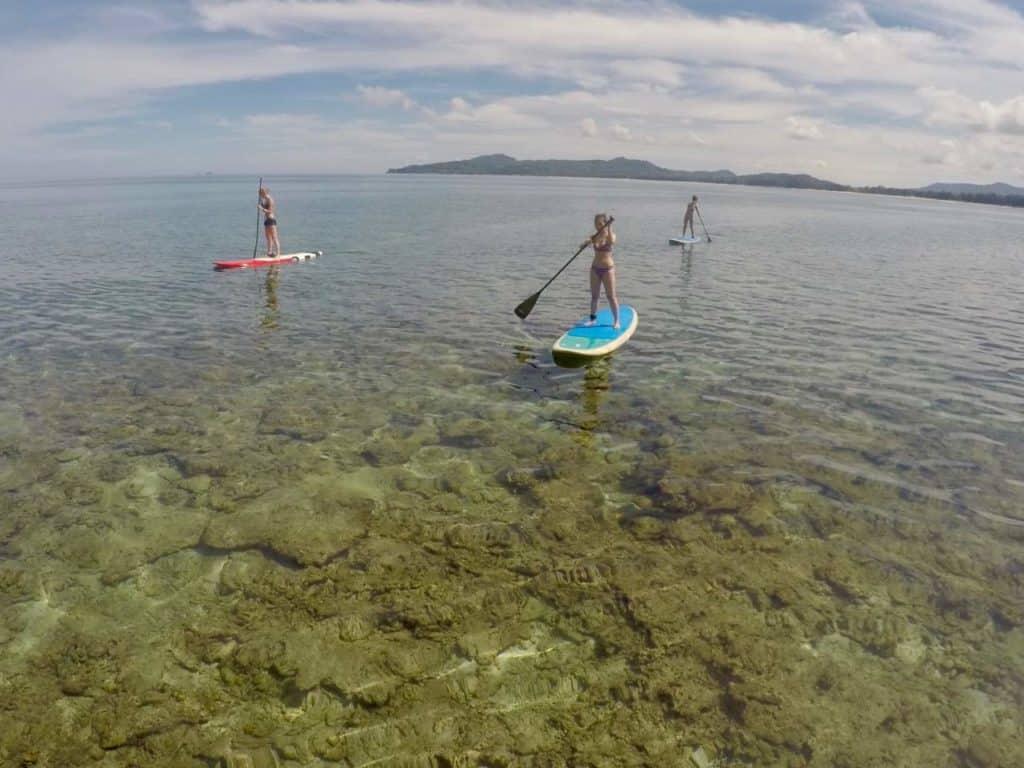stand up paddle boarding at Skylas Surf SUP Club at Bang Tao Beach
