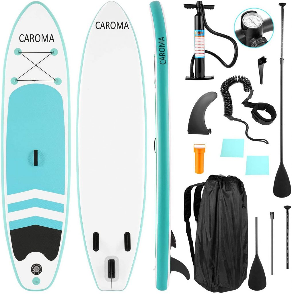 Caroma Inflatable Stand Up Paddle Board, Premium SUP Accessories