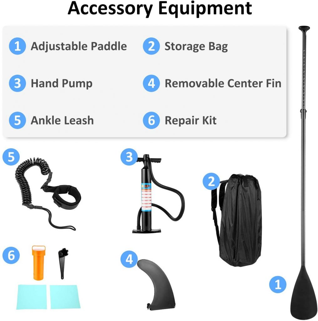 Caroma Inflatable Stand Up Paddle Board, Premium SUP Accessories3