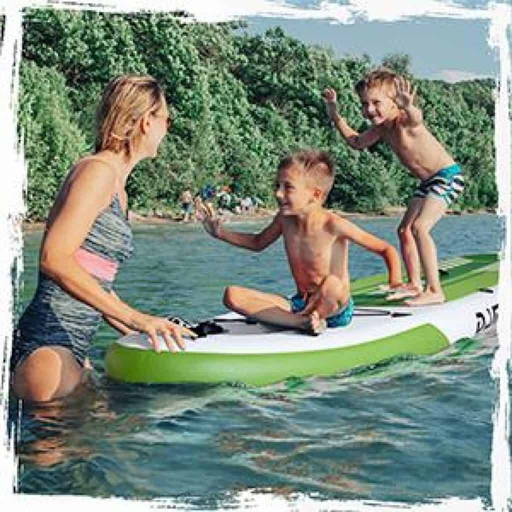 DAMA Youth 10 Inflatable Sup Stand Up Paddle Board Drop Stitch Youth Board2