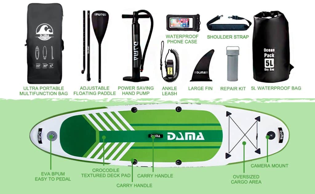 DAMA Youth 10 Inflatable Sup Stand Up Paddle Board Drop Stitch Youth Board