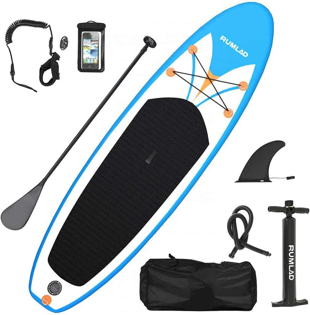Rumlad Inflatable Stand Up Paddle Board 4 Inches Thick with One-Way Sup