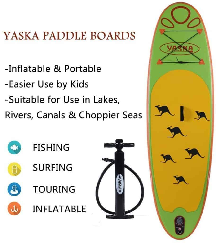 YASKA Children Inflatable Stand Up Paddle Board with SUP