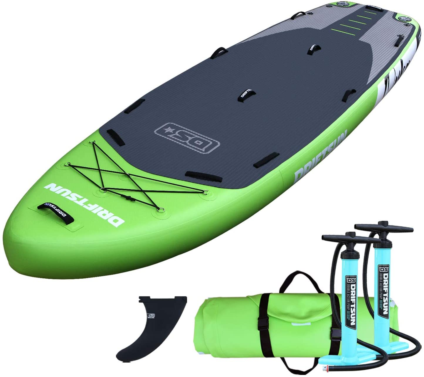 Driftsun Orka 12 Foot Extra Wide Multi Person Inflatable Paddle Board Stand Up SUP