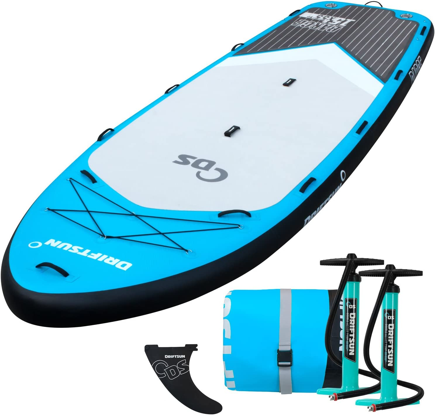 Driftsun Party Barge 15 Foot Inflatable Paddle Board, Large Multi-Person Inflatable Stand Up Paddle Boards
