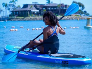 Freein Stand Up Paddle Board Inflatable SUP 10':10'6 Long with Kayak Conversion