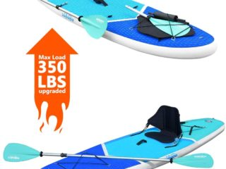 Zupapa 2020 Upgraded Inflatble 10FT Stand Up Paddle Board Kayak Conversion