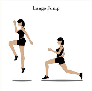 Lunge Jump exercise