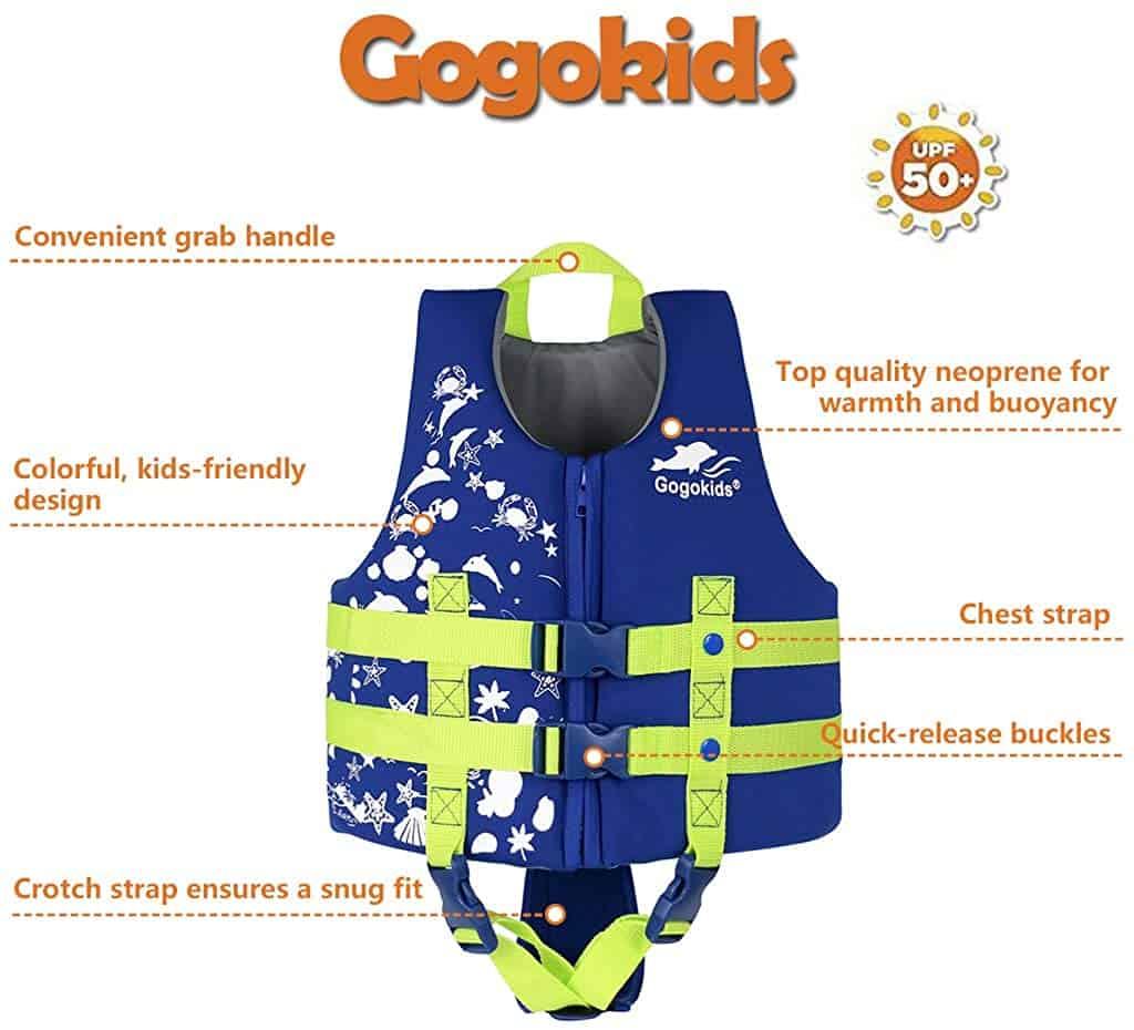 Gogokids Kids Swim PFD Vest Life Jacket benefits
